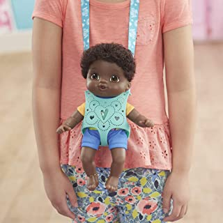 Littles by Baby Alive, Carry 'N Go Squad, Little Theo Black Curly Hair Boy Doll, Carrier, Accessories, Toy For Kids Ages 3 years & Up (Amazon Exclusive)