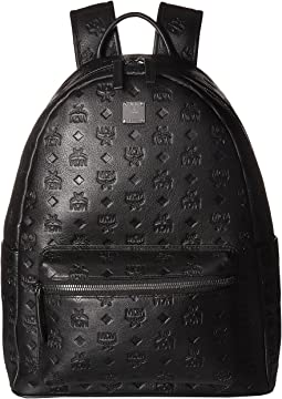 Ottomar Monogrammed Leather Backpack