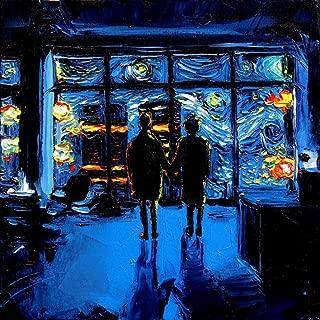 Project Mayhem Starry Night Fight Club Canvas print van Gogh Never Watched The World Burn Art by Aja choose size movie artwork