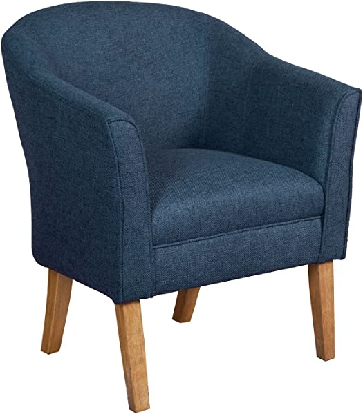HomePop Chunky Textured Accent Chair Blue