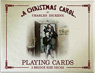 christmas bridge playing cards