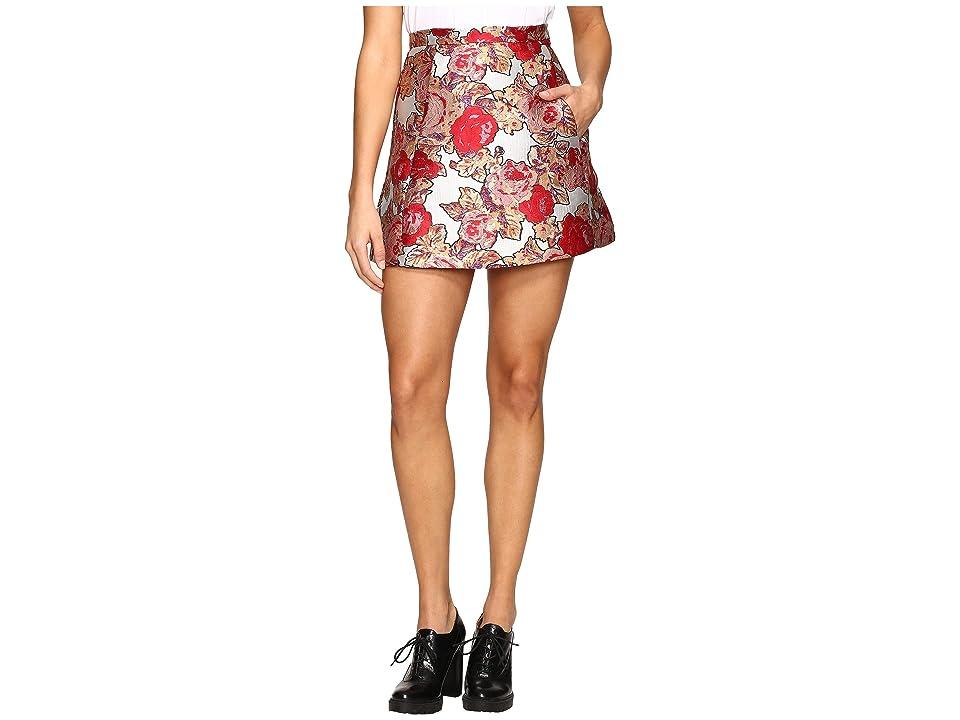 Rachel Antonoff Brett Triangle Skirt (Jacquard Rose Garden) Women