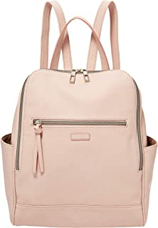 blush pink leather backpack