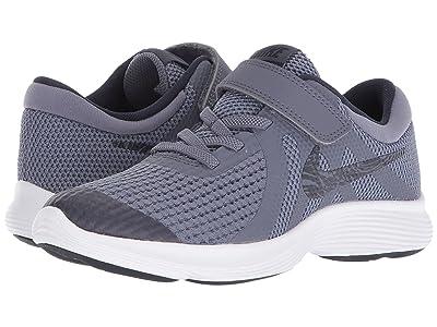 Nike Kids Revolution 4 (Little Kid) (Light Carbon/Obsidian/Thunder Blue/White) Boys Shoes