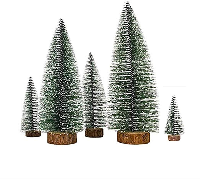 5 PCS Desktop Miniature Pine Christmas Tulsa Mall Tree Sisa Mini Artificial famous