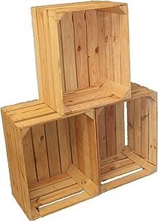 Set of 3 Vintage madera - Las fruta de - Caja para vino -
