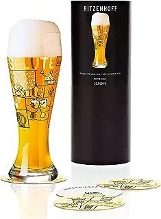 Ritzenhoff Draft Beer Glass with Coaster by Designer Potts