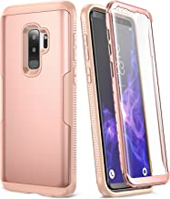 YOUMAKER Galaxy S9+ Plus Case, Rose Gold with Built-in Screen Protector Heavy Duty Protection Shockproof Slim Fit Full Body Case Cover for Samsung Galaxy S9 Plus 6.2 inch (2018) - Rose Gold/Pink