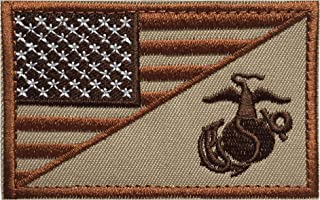 """Tactical Morale Patch USA Flag Embroidered American Flag Patch Velcro Hook Backing Emblem ... 3"""" x 1.97"""" PUF-001"""