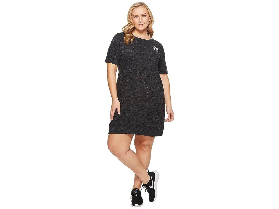 Nike Sportswear Gym Vintage Dress (Size 1X-3X) (Black/Sail) Women