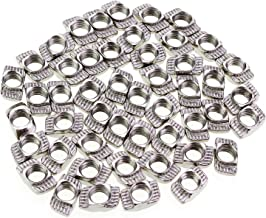 50PCS Wimas 50Pack 2020 Series M3 T-Nuts Carbon Steel Nickel-plated Half Round Roll In Sliding T Slot Nut 20 Series M3