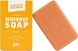 Kentucky Bourbon WHISKEY SOAP | Great Mens Gift for Whiskey, Bourbon, and Scotch Lovers | All Natural + Made in USA | Cool Birthday Gift for men | Made with Real Alcohol | Good for Hand + Face + Body