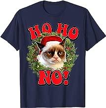 Grumpy Cat Ho Ho No Christmas Wreath Holiday Graphic T-Shirt
