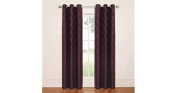 Plum Eclipse 13750042X084PLM Captree 42-Inch by 84-Inch Blackout Grommet Single Window Curtain Panel