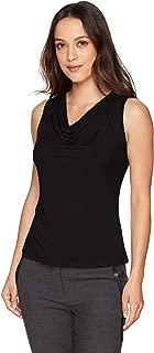 Women's Petite Solid Drape Neck Cami