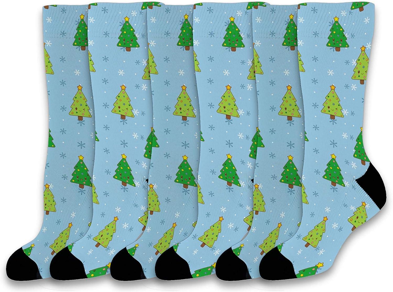 Christmas Socks for Men  Women Kawaii Face Christmas Tree Socks