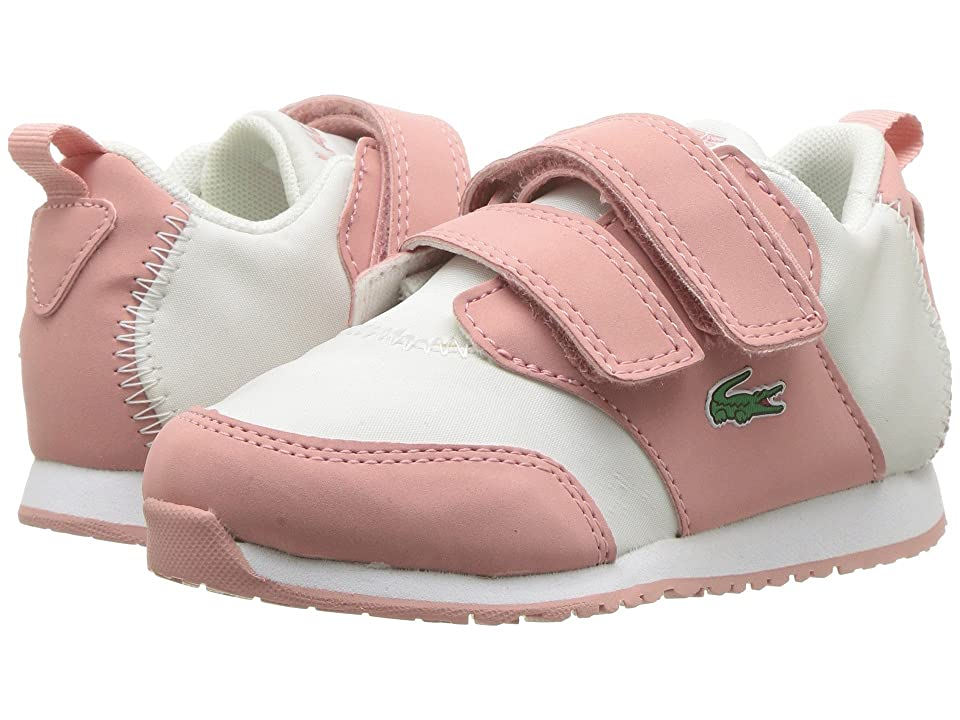 Lacoste Kids L.Ight 318 (Toddler/Little Kid) (Pink/Off-White) Kid
