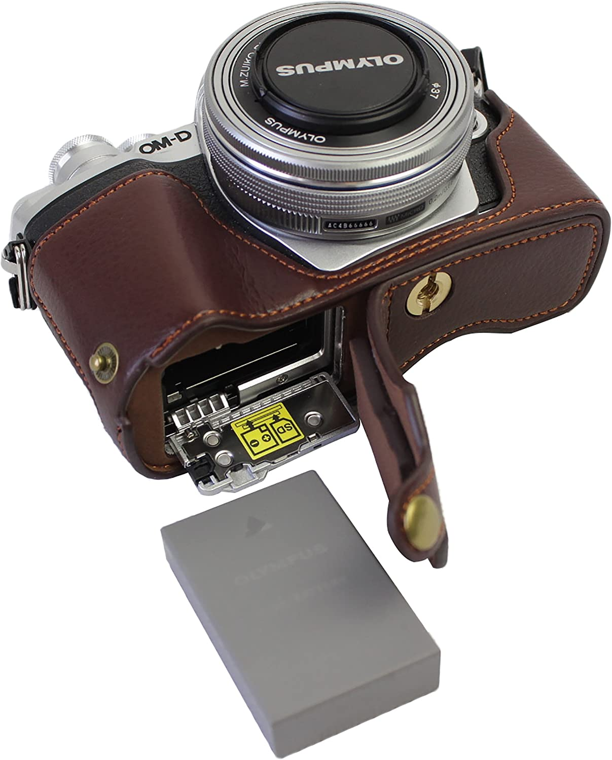 Fort Worth Mall Bottom Opening Version Protective Real High quality new Half Case Camera Leather