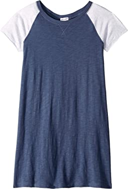 Slub Jersey Raglan Short Sleeve Dress (Big Kids)