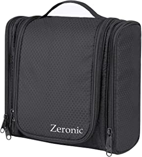 Toiletry Bag,Hanging Travel Toiletry Organizer Kit Portable Waterproof Cosmetics Bag ZERONIC Multifunctional Bathroom Shower Shaving Bag with Hook for Men or Women
