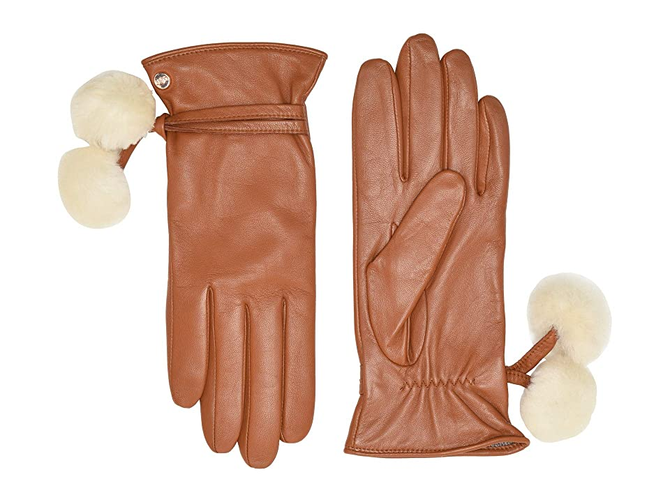 Vintage Style Gloves- Long, Wrist, Evening, Day, Leather, Lace UGG Sheepskin Pom and Leather Tech Gloves Chestnut Extreme Cold Weather Gloves $130.00 AT vintagedancer.com