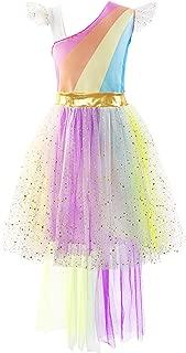 Little Girls Unicorn Tutu Dress Rainbow Costume Party Skirt Set