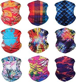 4ee69d114eab7 Sojourner 9PCS Seamless Bandanas Face Mask Headband Scarf Headwrap  Neckwarmer   More - 12-in