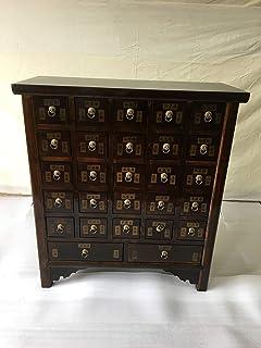 Antique armoire à pharmacie Armoire Armoire de bureau Pharmacie Armoire Commode Commode Armoire Buffet avec 27tiroirs bre...