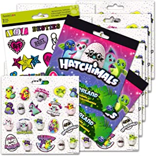 Hatchimals Stickers Party Favors Pack -12 Sheets of Hatchimals Stickers Bundled with Best Friends Party Temporary Tattoos