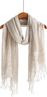 Lightweight Summer Scarf Shawl Wrap Linen Feel Scarves For Men And Women