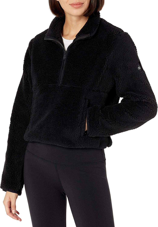 Alo Yoga Womens Shanti Half Zip Sherpa Jacket