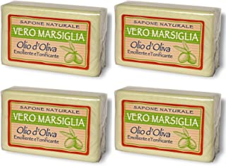"Saponeria Nesti Firenze: Set of Four""Vero Marsiglia"" Natural Soap * 5.29 Ounce (150gr) Packages (Pack of 4) * [ Italian Import ]"