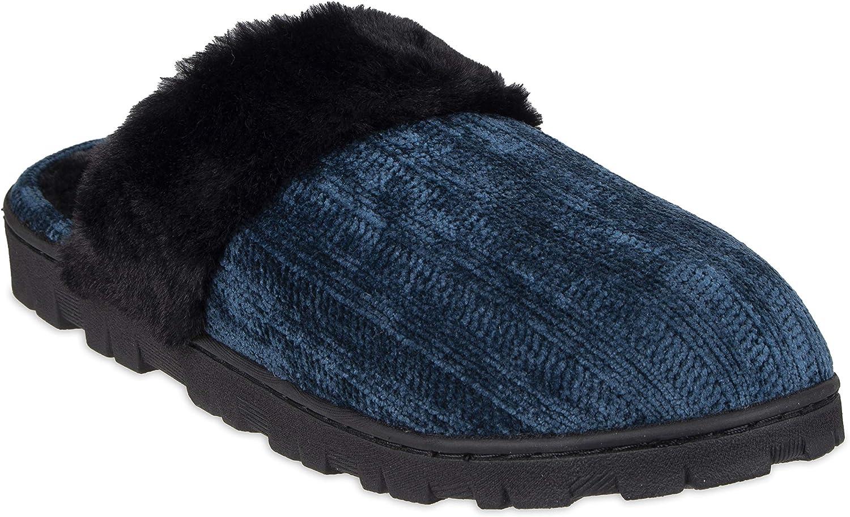 Chaps Women's Comfy Faux Fur House Fashionable Slipper Outlet ☆ Free Shipping Foam Memory Sli Scuff