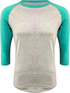 ILTEX Raglan T-Shirt 3/4 Sleeve Athletic Baseball Jersey Unisex (30+ Colors)
