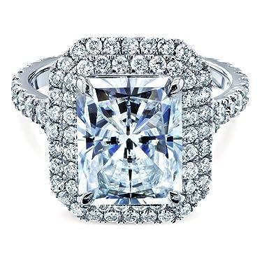 Kobelli Large Radiant Double Halo Moissanite Ring (DEF/VS, GH/I)