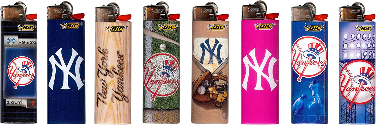 BIC Mail order York Yankees Lighters 2019 Licensed Max 67% OFF Officially MLB Designs