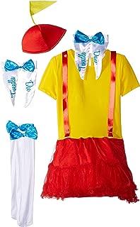 Tweedle Dee & Dum Costume for Girls - Choose Size