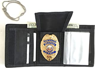 Tri-Fold Ballistic Badge Holder, Wallet w/ID Window & Credit Card slots by Hero's Pride