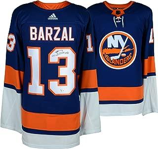 Mathew Barzal New York Islanders Autographed Blue Adidas Authentic Jersey - Fanatics Authentic Certified