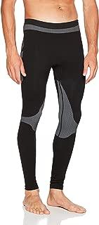 Sport Calzoncillos Largos – First Comfort Long Tights – Pantalón de chándal para Hombre Gran Libertad de Movimientos – Función Pantalones Transpirable en Negro de Gris – Base Layer
