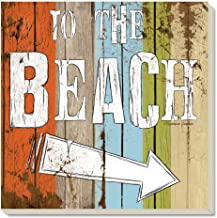 CounterArt Absorbent Coasters,Beach Signs, Set of 4