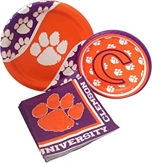 Clemson University Tigers Party Supply Pack! Bundle Includes Paper Plates & Napkins for 8 Guests