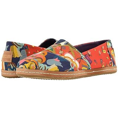 TOMS Alpargata (Red Ditzy Floral/Mosaic Linen) Women