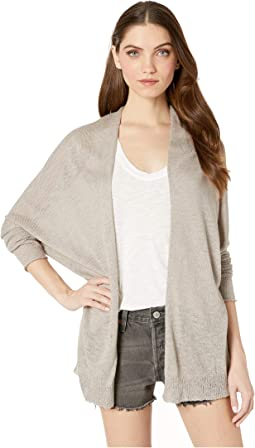Joslyn Linen Blend Long Sleeve Cardigan Sweater