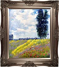 overstockArt Walk in The Meadows at Argenteuil by Monet with Victorian Champagne Frame