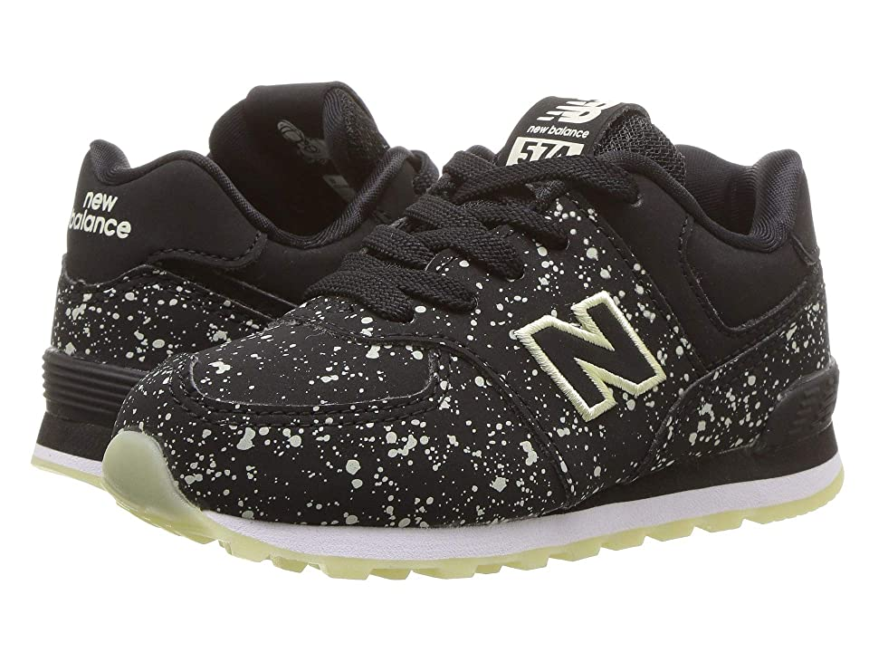 New Balance Kids IC574v1 (Infant/Toddler) (Black/Glow In The Dark) Boys Shoes