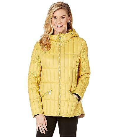 Bernardo Fashions EcoPlume Hooded Packable Puffer Jacket (Daisy Yellow) Women
