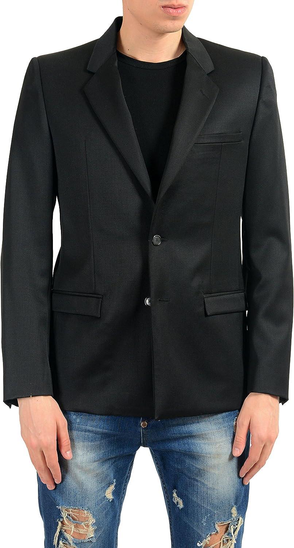 Versace Men's 100% Wool Black Two Button Blazer Sport Coat US 38 IT 48