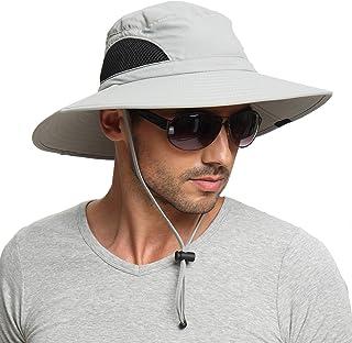 Sun Hat for Men/Women, Outdoor Summer Sun Hat UV Protection Wide Brim Foldable Safari Fishing Cap