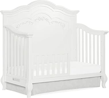 Evolur Aurora 5-in-1 Convertible Crib, Frost
